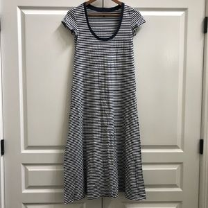 Madewell Striped Swingy T-Shirt Dress